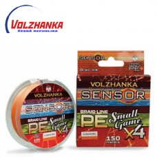 Pletená šňůra Volžanka SENSOR SMALL GAME X4 150m/0,06mm/2kg -orange