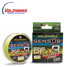 Pletená šňůra Volžanka SENSOR MONSTER GAME X8 150m/0,26mm/13,64kg